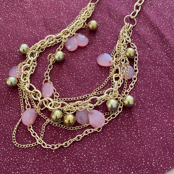 🆑3 for $10🆑 pink and gold necklace